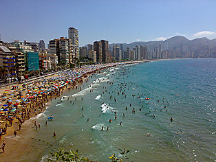 Levante Beach in Benidorm